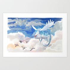 Chameleon+Flight+Art+Print+by+Syd+Hanson+-+$18.00