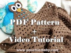 Granny Owl Blanket PDF Pattern and Video Tutorial - Poochie Baby