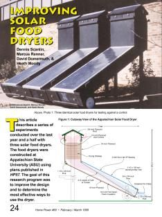 Improving Solar Food Dryers