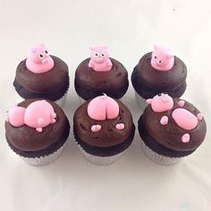 Pigs in Mud Cupcakes