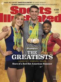 Michael Phelps, Katie Ledecky and Simone Biles Unite for Sports Illustrated…