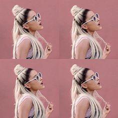 Is it just me or does it look like she has a blond poop emoji on her head  Luv u Ari