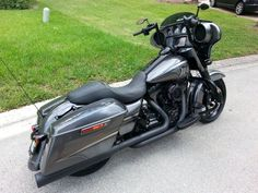 Beautiful Charcoal Grey & Blacked Out Street Glide