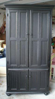 Black Armoire   Garage Sale Find $95