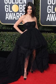 Best Dressed at the Golden Globes 2018: All the Stars in Black - Kendall Jenner