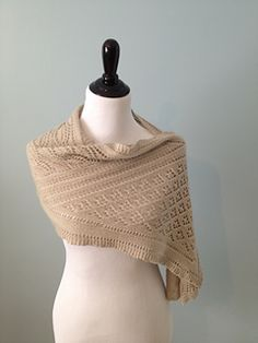 Fairy Glen, by Kristen Fanning.  A light, airy stole inspired by where the fairies hide.  #giftalong2014
