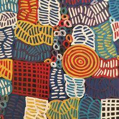 140*180 cm blu giallo strisce geometriche Aborigena