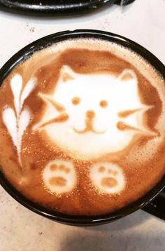 Kaffee-Kunst.