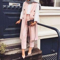 40 Elegant Hijab for Working – Hijab Fashion Modest Fashion Hijab, Modern Hijab Fashion, Street Hijab Fashion, Casual Hijab Outfit, Hijab Fashion Inspiration, Hijab Chic, Muslim Fashion, Suit Fashion, Fashion Outfits