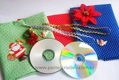 Como fazer enfeites de Natal com CDs velhos - ARTESANATO PASSO A PASSO!