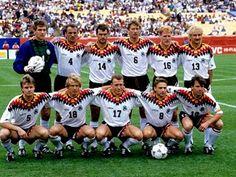 EQUIPOS DE FÚTBOL: SELECCIÓN DE ALEMANIA contra Bélgica 02/07/1994