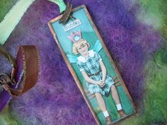 Bubbly Fairy Altered Art Mixed Media Two Sided by GratefulBeads, $15.00