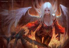 FallenAngel by Cushart on DeviantArt