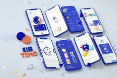 heesoo kim on Behance Web Design Mobile, Design Ios, Game Ui Design, Interface Design, Flat Design, Book Design Layout, Web Layout, Wireframe, Template Web