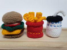 Hamburger, Pommes und Softdrink – Häkelanleitungen made by creaTIFFIty via DaWanda.com