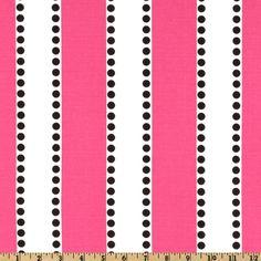 Premier Prints LuLu Stripe Candy Pink/Black