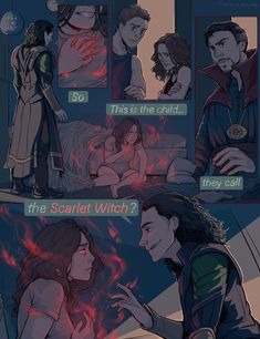 i want an interaction between loki and scarlet witch so bad i want him to teach her things i want her to figure out she can raise people from the dead and being petra back i want full on scarlet witch in all of her awesome glory. I WANT LOKI HELPING WANDA Marvel Avengers, Marvel Dc Comics, Wanda Marvel, Marvel Jokes, Marvel Funny, Marvel Heroes, Captain Marvel, Captain America, Comic Manga