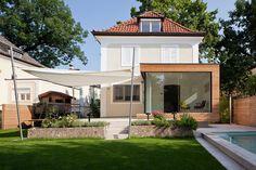 Planung eines Zubaues samt Dachgeschoßsausbau für ein Haus in Salzburg Stadt; Künstlerische Gestaltung - Einreichplanung! Ausführungsplanung, ÖBA FallyplusPartner..