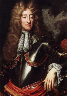 JAMES II (1685-88) Three years younger than his brother, James had escaped to Holland during the Civil War in 1648, dressed as a girl. A brave soldier who served with the French and Spanish armies, he was given command of the English navy by King Charles II. His first marriage, to Anne Hyde, produced two daughters, Mary & Anne, who were raised as Protestants though James became openly Catholic. His unpopular second marriage (1673) was to Catholic princess Mary of Modena.