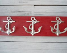 starfish towel hook towel rack coat rack by BeachHouseDreamsHome