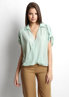 Do & Be High-Low Crossover Blouse - Ideeli