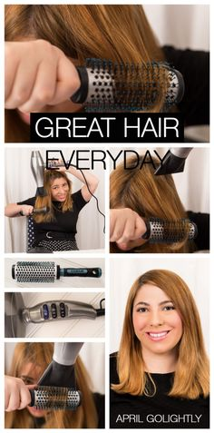 Great-hair-everyday #‎HeartMyHair‬ ‪#‎CollectiveBias‬ ‪#‎ad‬ blow out with the new conair 3Q hairdryer