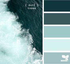 Coastal Decor - Beach Decor Color Palette #43 Surf Tones