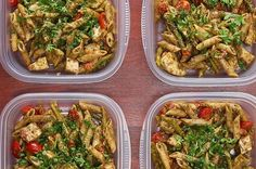 Here's a video showing you how to make it: | This Pesto Chicken Pasta Meal Prep Recipe Will Cost You Less Than Twenty Dollars