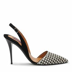 Houndstooth Haircalf Cece Pump - Ralph Lauren Pumps - I'm loving it! Slingback Shoes, Pumps Heels, High Heels, Slingbacks, Heeled Boots, Shoe Boots, Kinds Of Shoes, Hot Shoes, Beautiful Shoes