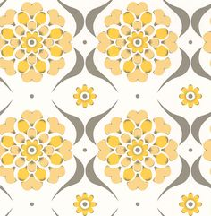 Flower Swirl  Sunburst wallpaper by Layla Faye