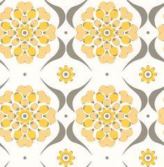 Flower Swirl  Sunburst wallpaper by Layla Faye