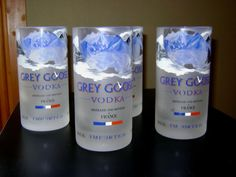 Grey Goose Bottles RePurposed as 16 oz Tumblers by ckarsjens, $35.00  These are cool! --- Kevin's Man cave