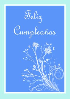 Feliz Cumpleaos Birthday Spanish Card With Floral Scrolls Ad