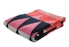 Colourful throw from Mondocherry | Gallop Lifestyle #pink #navy #colour