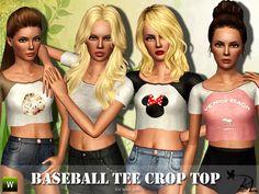 Black Lily's Teen Baseball Tee Crop Top