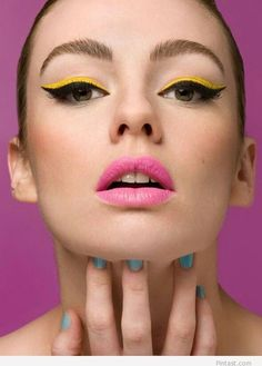 Fashion makeup – Yellow, black and pink