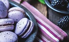 Try this twist on the traditional French macaroons with fresh blackberries. McCarthy Stone Retirment Community Mccarthy And Stone, French Macaroons, Blackberries, Easter Eggs, Easy Meals, Community, Fresh, Traditional, Breakfast