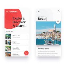 CroSpots - Mobile Web designed by kreatıva. Connect with them on Dribbble; Ios App Design, Mobile App Design, Mobile Web, Pop Design, Design Lab, Studio Design, Graphic Design, Flat Design, Gui Interface