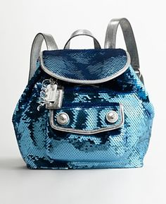 COACH LIMITED EDITION  POPPY SEQUINS DAYPACK BACKPACK(FREE SHIPPING ON ANY HANDBAG $299.99 OR MORE)