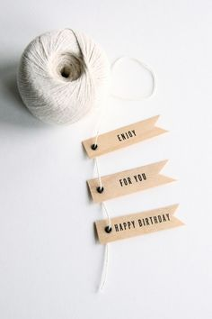 Love love love these letterpress veneer tags