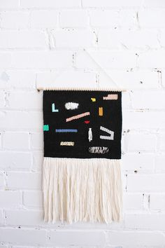 Woven Wall Hanging – Black Memphis. From Baba Souk