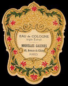 Vintage Diy, Vintage Paper Crafts, Vintage Tags, Vintage Labels, Vintage Ephemera, French Vintage, Perfumes Vintage, Etiquette Vintage, Paris Perfume