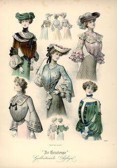 [De Gracieuse] Blouses en tailles (November 1902)