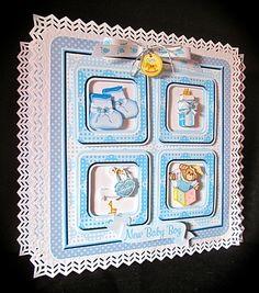 Baby Boy Frame Card by Cynthia Massey