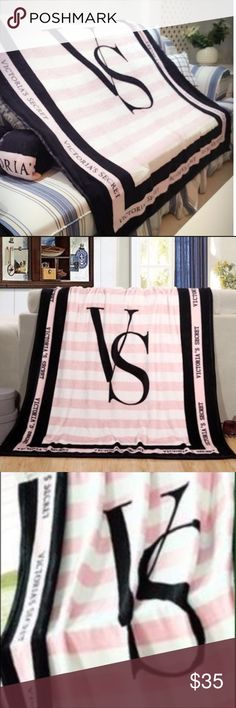 Victoria secret pink and white blanket Brand new never been used Victoria's Secret Other