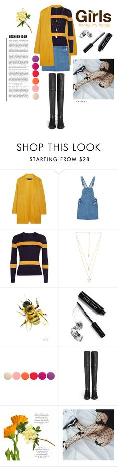 """GIRLS: Honey, My Honey"" by scarlets019 ❤ liked on Polyvore featuring Rochas, Jaeger, Natalie B, Bobbi Brown Cosmetics, Deborah Lippmann and Stuart Weitzman"