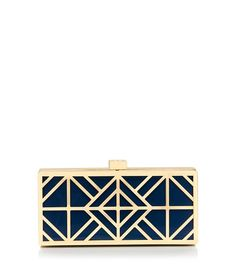 gorgeous! Tory Burch Fret Clutch