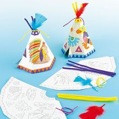 Native American Tipi Kits (Pack of 6): Amazon.co.uk: Toys & Games