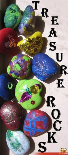 Make Treasure Rocks & use for story telling, as pirate treasure, for counting/sequencing, in a fairy garden, inside pot plants etc Pirate Preschool, Pirate Activities, Pirate Crafts, Preschool Crafts, Activities For Kids, Crafts For Kids, Daycare Crafts, Teaching Activities, Pirate Day