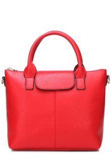 Solid Color Magnetic Closure Embossing Tote Bag